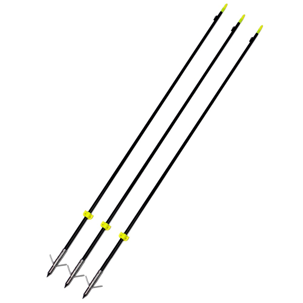 Brand New 3 Pcs pack Professional 88CM Long Bow Fishing Shooting Arrows 8mm Fiberglass Shaft Arrows
