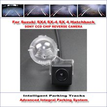 Buy Intelligent Parking Tracks Car Rear Camera Suzuki SX4 SX-4 SX 4 Hatchback Backup Reverse / NTSC RCA AUX HD SONY 580 TV Lines for $49.21 in AliExpress store