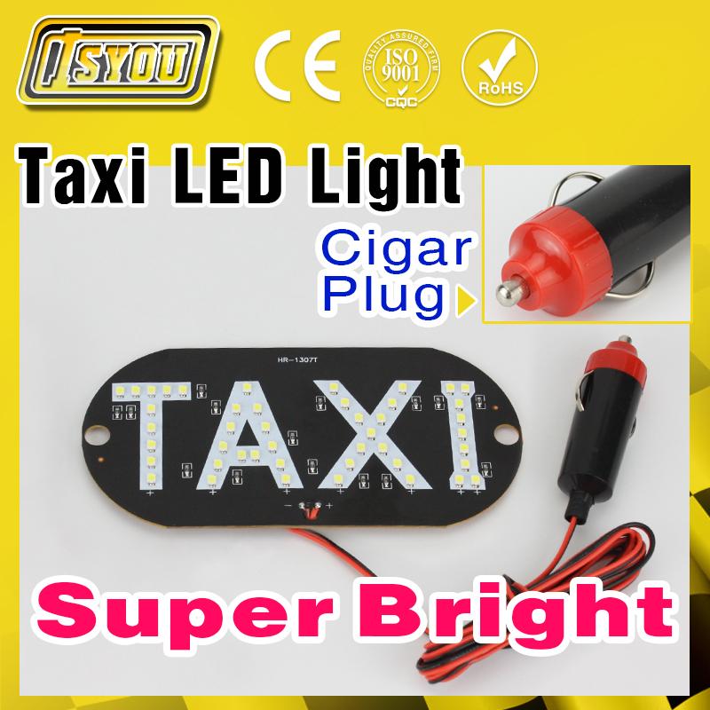 Wholesale Free Shipping Taxi LED Light DC 12V Car indicator lamp Parking light Super Bright LED Working Lights Source(China (Mainland))