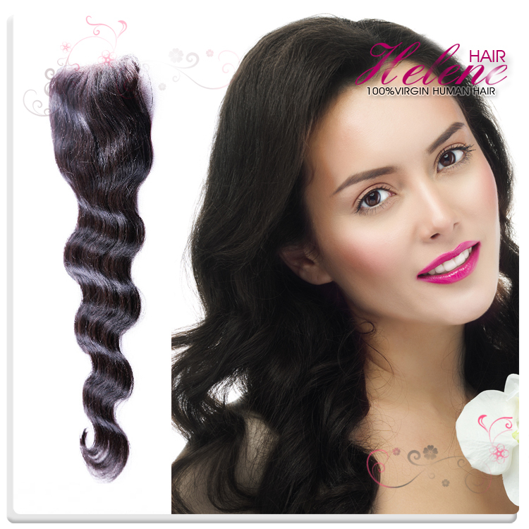 6A Helene Cheapest Brazilian Human Virgin Hair Weave 4x4 Body Wave Top Lace Closure Free Part Bleached Knots Free Shipping<br><br>Aliexpress