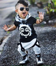 2016 Summer Baby babe boy clothing sets short-sleeved letter cotton T-shirt top + pants  baby boys clothing 2pcs infant  suit