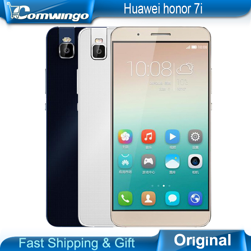 New Original Huawei Honor 7i Snapdragon Octa Core 5.2'' 1080P FDD LTE 4G Android 5.1 13MP Rotating Camera Metal Phone In Stock(China (Mainland))