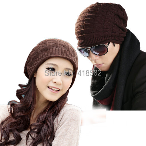 free shipping  4 Colors autumn winter new arrival The triangle knitted hat  for men and women--DM023