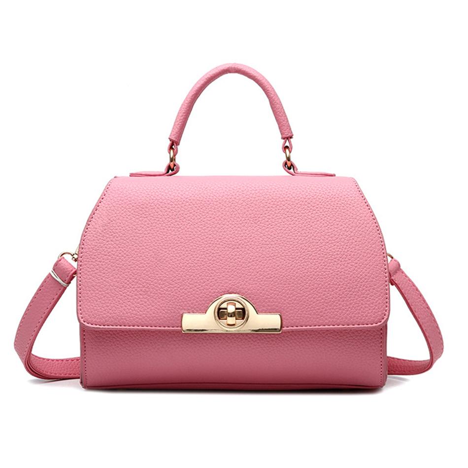 2016 Ladies Handbag Pink Mini Cute Totes Bag Cover Locked Cross Body Bags 5 Colors Available For Summer KSB083(China (Mainland))
