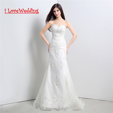 Buy iLoveWedding Stock New White/Ivory A-Line Wedding Dresses Lace Back Applique Women Formal Bridal Gown Vestidos de novia 23106 for $103.55 in AliExpress store