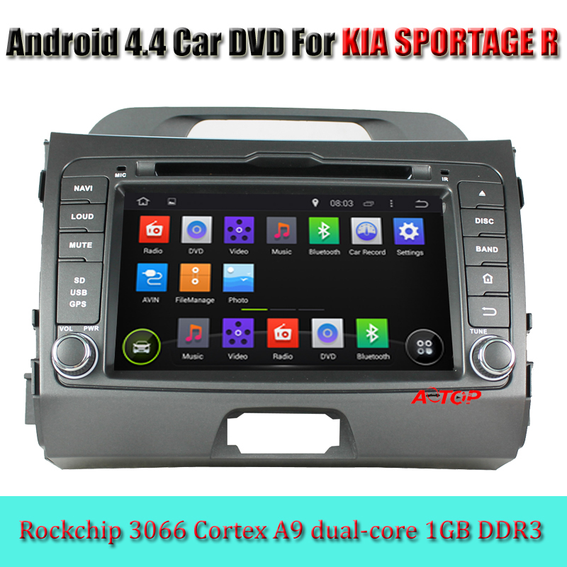 HD1024*600 CAR DVD For KIA SPORTAGE R 2010-2012 Android 4.4 dual-core GPS Navigation Car Radio RDS Video Audio Navi Media Stereo(China (Mainland))