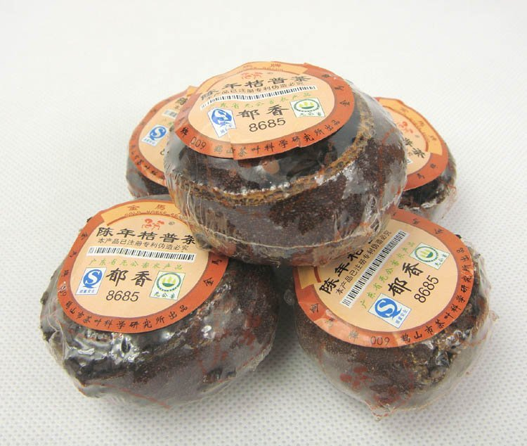 4pcs Orange Puerh Tea Ripe puer tea shu pu er tea 2005 year Old Tree Puer