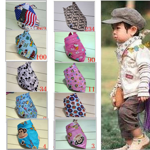 2015 New Baby Kid Toddler Bandana Baby Bibs Saliva Towel Dribble Triangle boy girls cotton Head Scarf A303(China (Mainland))