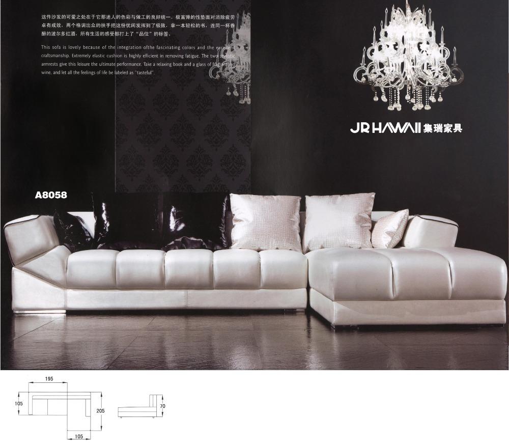 Top Quality Good Design Living Room Sofa Set Genuine Leather Sofa Set 8058 In Living Room Sofas