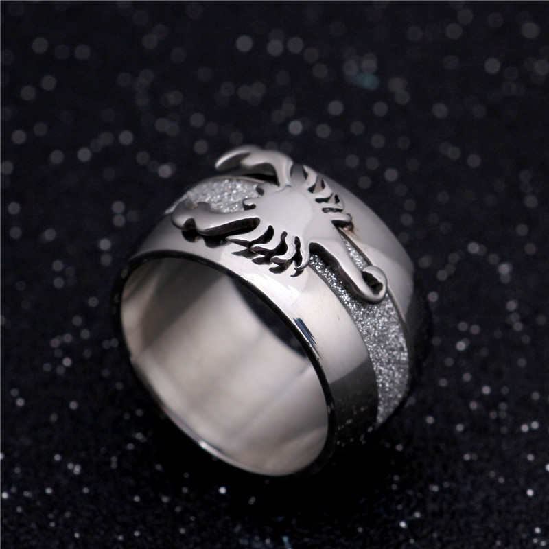 Scorpion Ring Fashion 2016 Jewelry Stainless Steel Cool Exaggerated Personality Ring BR8-032 US size(China (Mainland))