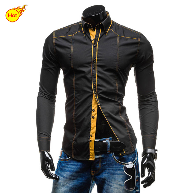 Men shirts hot sale casual shirts men 39 s shirt long sleeve for Men s dress shirt accessories