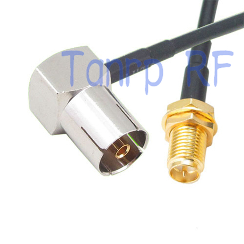 10pcs 6in TV female right angle to RP-SMA female jack  RF connector adapter 15CM Pigtail coaxial jumper RG174 extension cable<br><br>Aliexpress