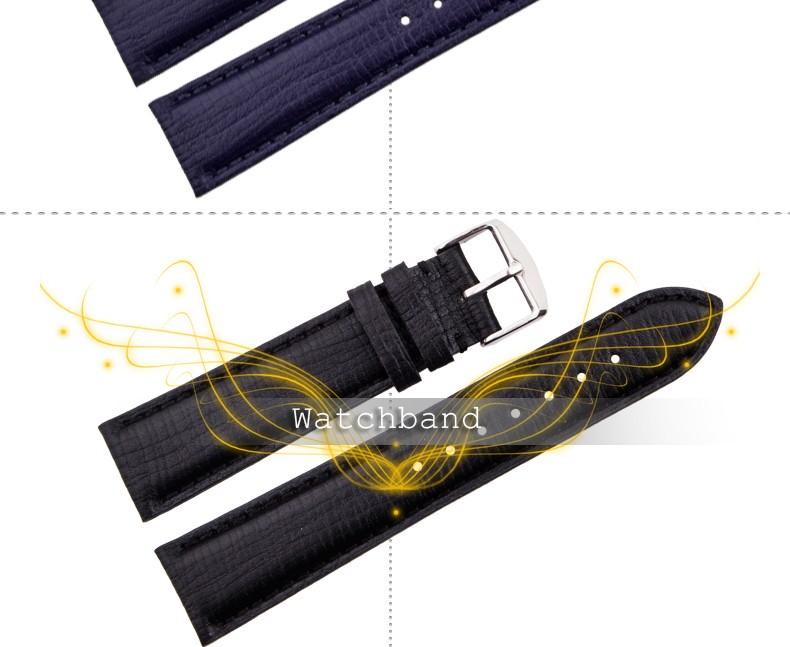 Досуг бизнес высокое качество прочный мода 20 / 22 мм коричневый синий черный стиль зерна группа часы кожи ремешок бесплатная доставка