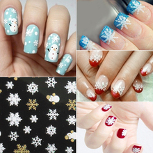 Popular 1 Sheet 3D Snowflakes Snowman  Nail Art Salon Stickers Tips DIY Decals  Decorations Accessories