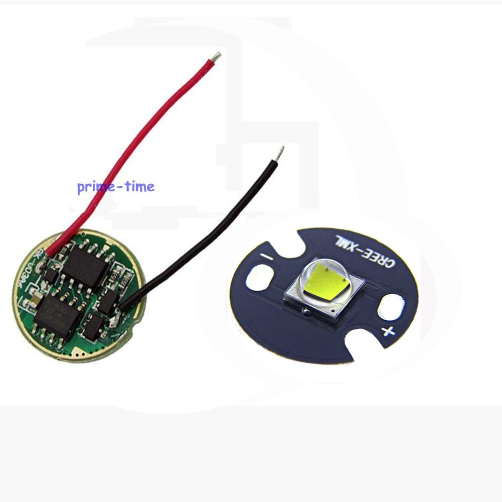 2 sets Cree XML2 LED White Color 10W LED Emitter Chip 16mm/20mm PCB +DC3.7V 2.5A LED Driver for XM-L2 flashlight parts(China (Mainland))