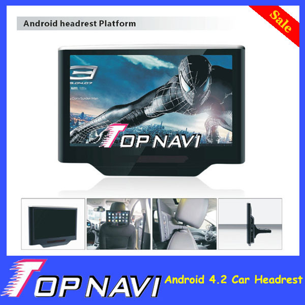 10.1 Inch Pure Android 4.2 Car Headrest monitor dvd player 1280*800 definition Capacitive Touch Screen+support Google Play APP(China (Mainland))