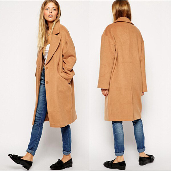 camel wool trench coat womens jacketin