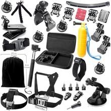 Gopro Accessories  Monopod Mount Helmet Extention Kits Mount  Chest Belt Mount  Bobber  For Go pro hero 4 3+ 19 piece set GS16