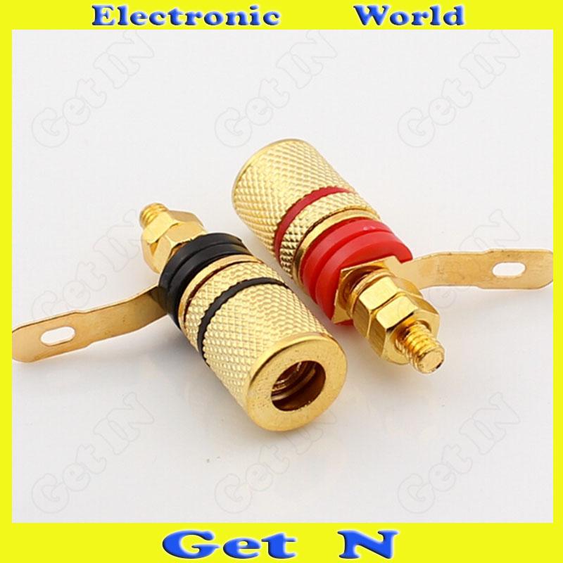 100pcs Palic Gilt Banana Plug Socket Panel for Audio System Stereo Loudspeaker
