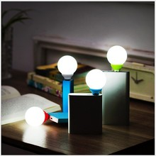 Mini USB LED Ball Bulb ABS Portable LED Reading Lamp Red Green Blue White Outdoor LED USB Night Light For Bank/PC(China (Mainland))