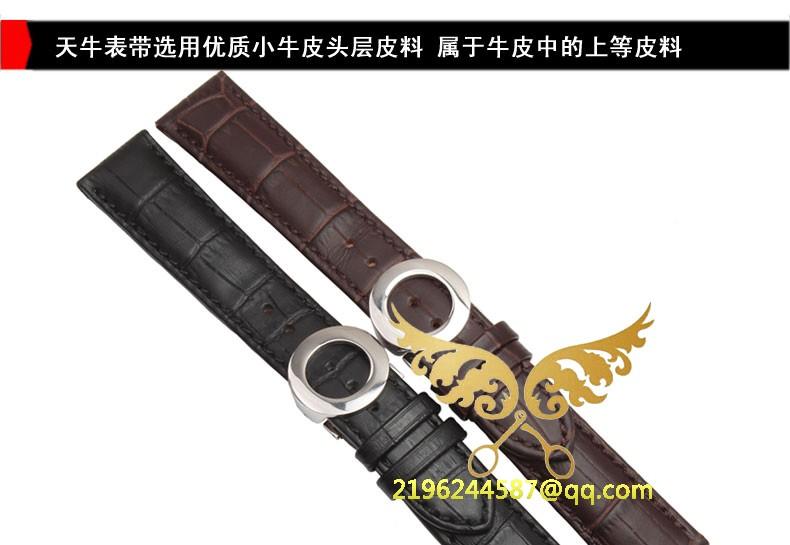 19 мм 20 мм 21 мм 22 мм черный коричневый мягкой натуральной кожи аллигатора зерна часы группа ремень хромовых ремешок для часов бесплатная доставка