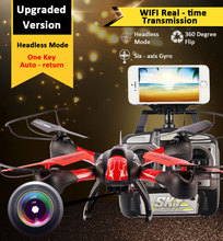 SKY HAWKEYE 1315W helicoptero Headless Mode WIFI FPV Real Time Transmission 4CH 2.4G RC Quadcopter drone with camera Helicopter