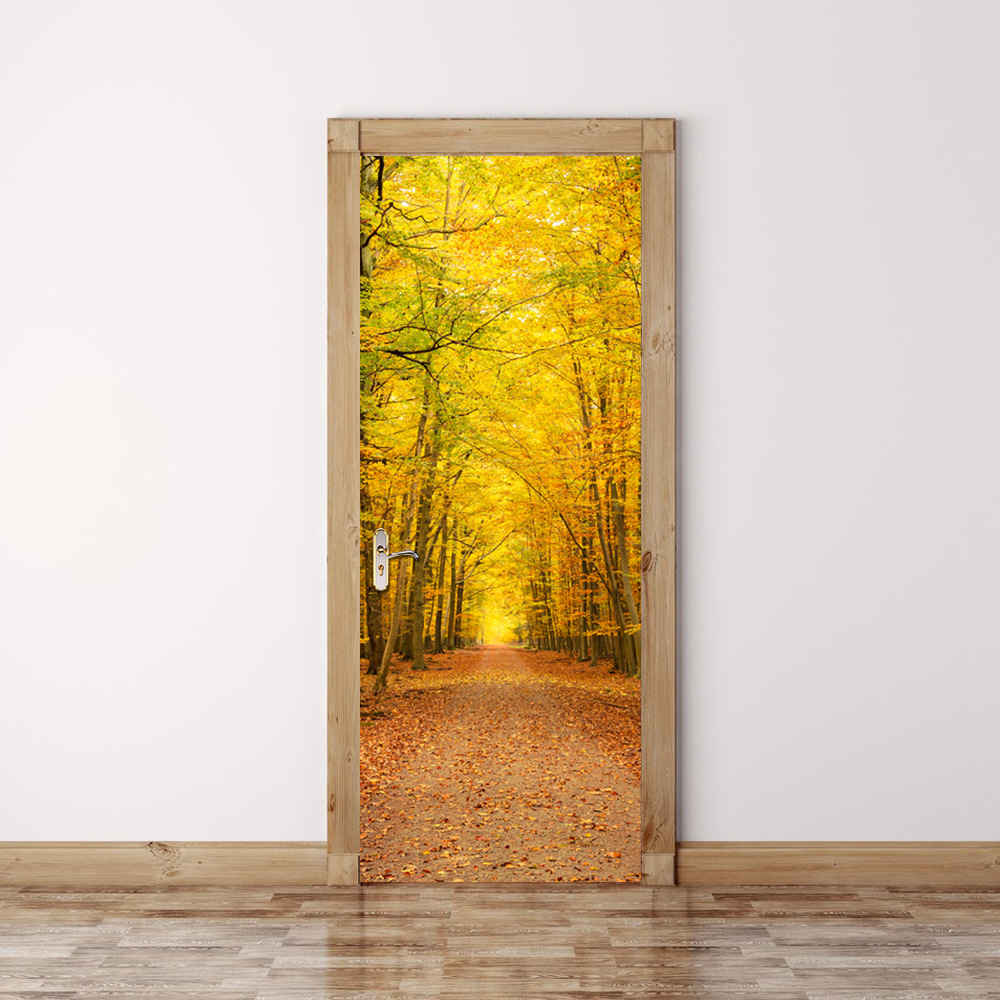 Online get cheap fall door decorations for Decoration porte 3d