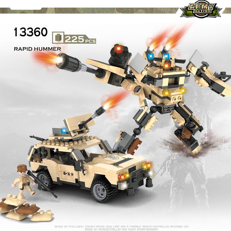 COGO Deformation Mech Educational Building Blocks Toys For Children Kids Gifts Jeep Robot Compatible With Legoe(China (Mainland))