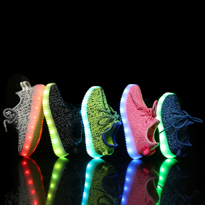 New fashion light up kids led shoes luminous font b girl b font boys shoes color
