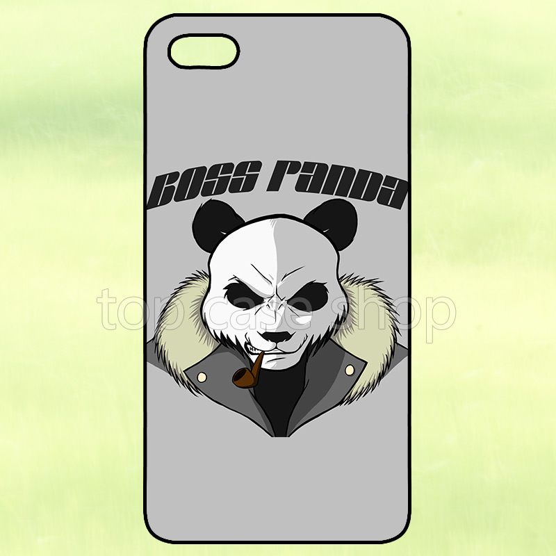 Boss Panda Cover Case for LG G2 G3 G4 iPhone 4 4S 5 5S 5C 6 6S Plus iPod Touch Samsung Galaxy S2 S3 S4 S5 Mini S6 Edge Note 2 3(China (Mainland))