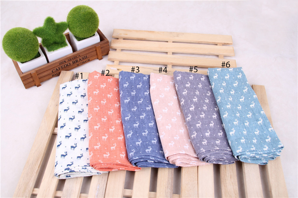 2016 Newest Giraffe Animal Printed Scarf Deer Scarf Cotton Linen Scarf 6Colors 10PCS/lot(China (Mainland))