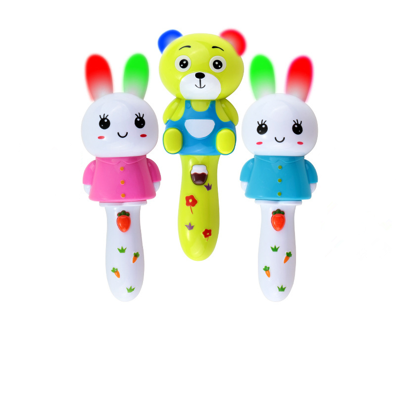 hot sale plastic baby rattles light and music newborn baby toys 0-12 months educational toys for toddlers juguetes bebes(China (Mainland))