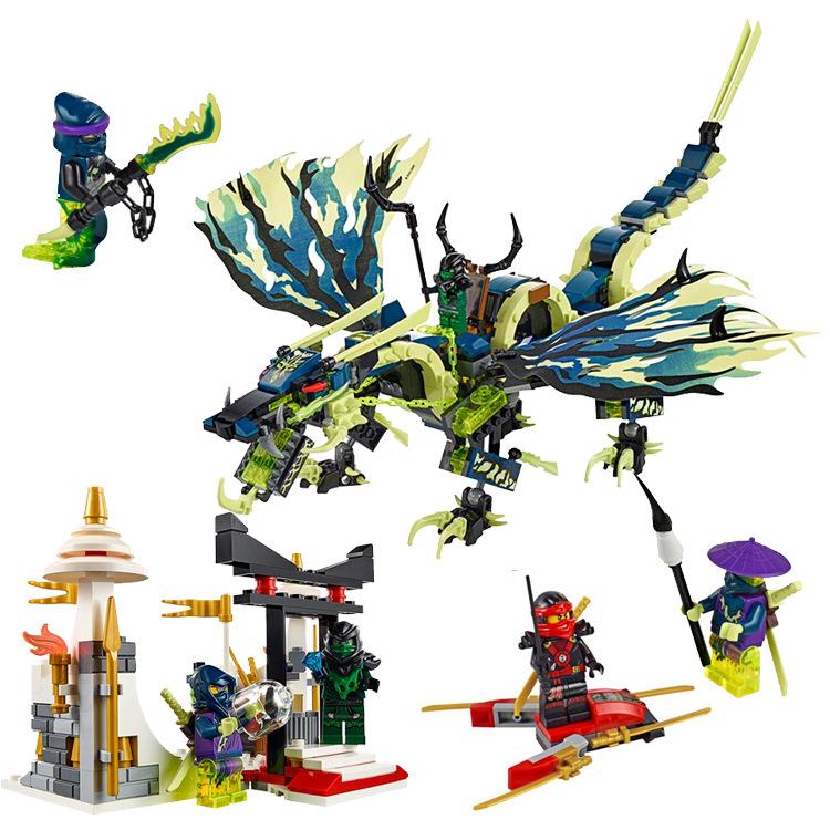 Ninjagoed Marvel Ninja Building Block 79120 Action font b Figure b font Model Kits Brick Toys