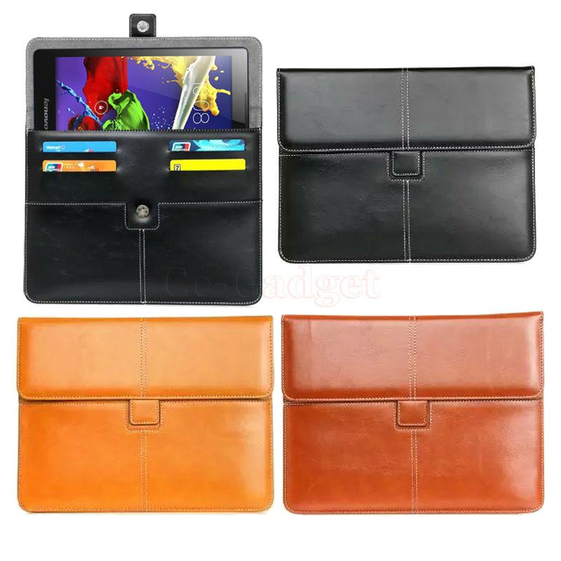 Роскошный Кожаный PU Портфель для Lenovo Tab 2 A10-70 A10-70L A10-70F X30F А10-30 10.1 ''Tablet Портфолио вт/Кредитная карты Держатель