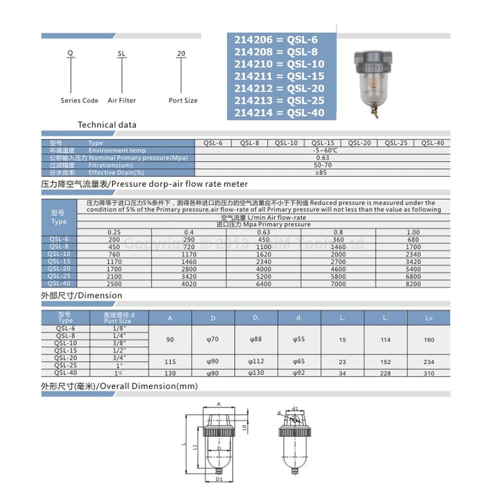 Купить Большой объем промышленного воздушный компрессор линия водоотделительный фильтр сепаратор QSL20