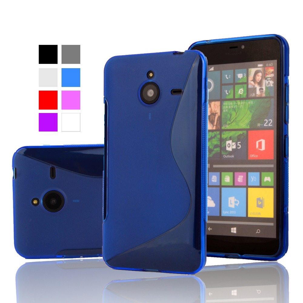 For Lumia 640 XL S Line TPU Silicone Rubber Soft Case For Microsoft Nokia Lumia 640XL Back Skin Cover Phone Protective Cases(China (Mainland))