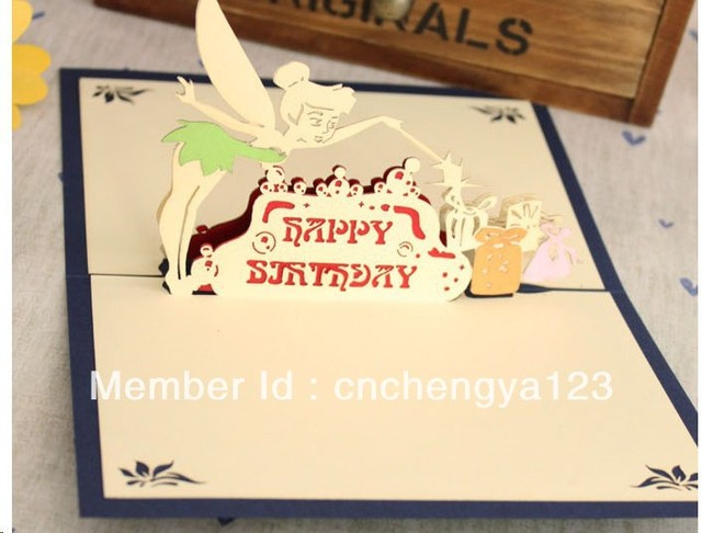 2013 new design happy birthday card,3d greeting card,with envelop