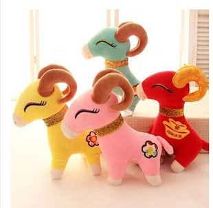 hot Chinese Tranditional Multicolor Plush Toys Stuffed Toy Color goat sucker hanging plush toys new year gift(China (Mainland))
