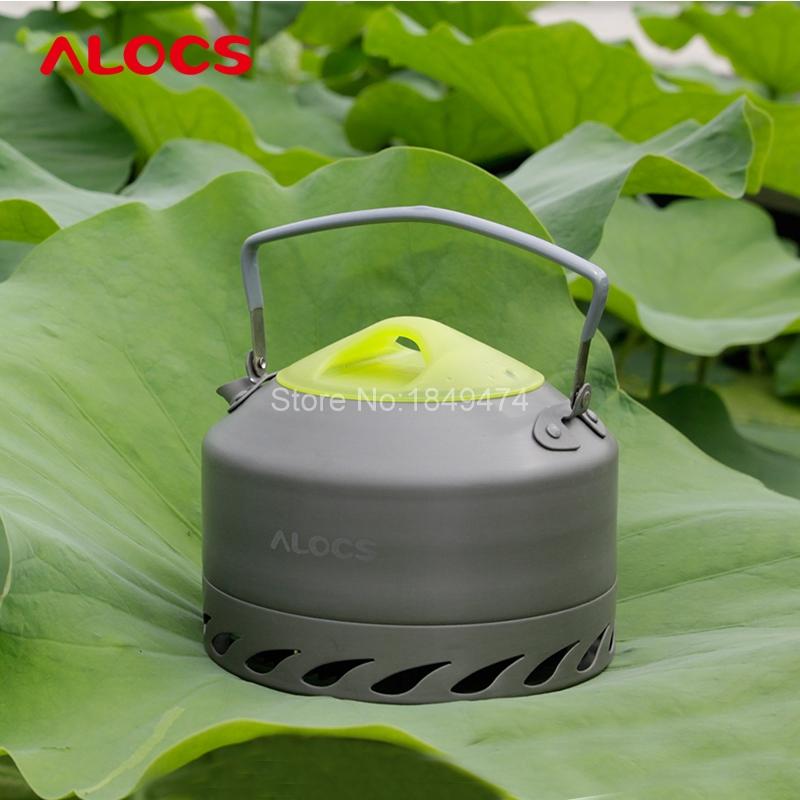 Alocs 0.9L Ultra-light Water Kettles Camping Survival Water Kettle Teapot Pot Aluminum With Mesh Bag Hiking Camp Cook Set<br><br>Aliexpress