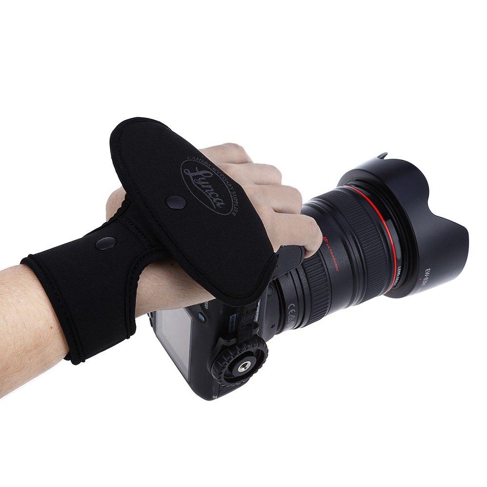 Black LYNCA EF1 Universal Durable Camera Wrist Band for SLR DSLR Digital Cameras Nikon / Canon / Sony / Pentax / Panasonic(China (Mainland))