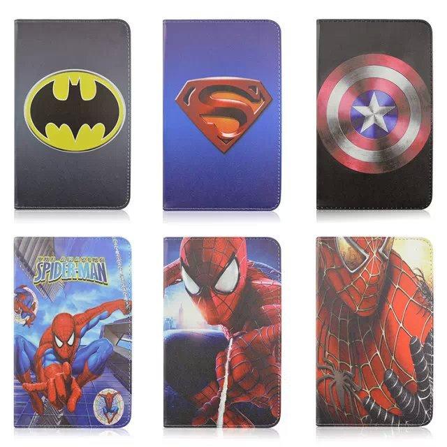 2015 New Cartoon Superman Spiderman Batman Flip Leather PU Case Samsung Galaxy Tab 3 Lite 7.0 T110 Stand - Rose Angel store