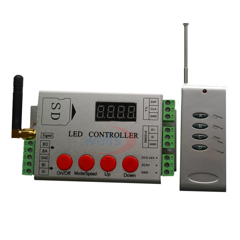RF pixel LED controller;SD card; dmx console -APA102/WS2812B/WS2811 WS2801 Strip(China (Mainland))