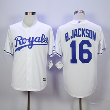 Mens KC Kansas City Royals Baseball 16 Bo Jackson Home Road Alternate 1975 1985 Throwback 100% Stitched Jersey(China (Mainland))