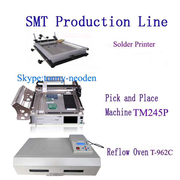 SMT Machine/Manual Pick and Place Machine TM245P(Advanced),SMT Line,Medium solder printer,T-962C Reflow Oven,NeoDen Techonology(China (Mainland))
