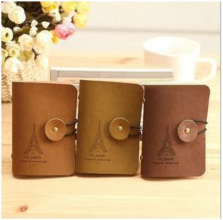 Short section of the iron tower credit card photo memo note holder card case L4A36(China (Mainland))