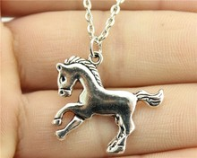 Buy Wholesale 30pcs/lot fashion antique silver plated 23*25mm horse pendant necklace for $19.98 in AliExpress store