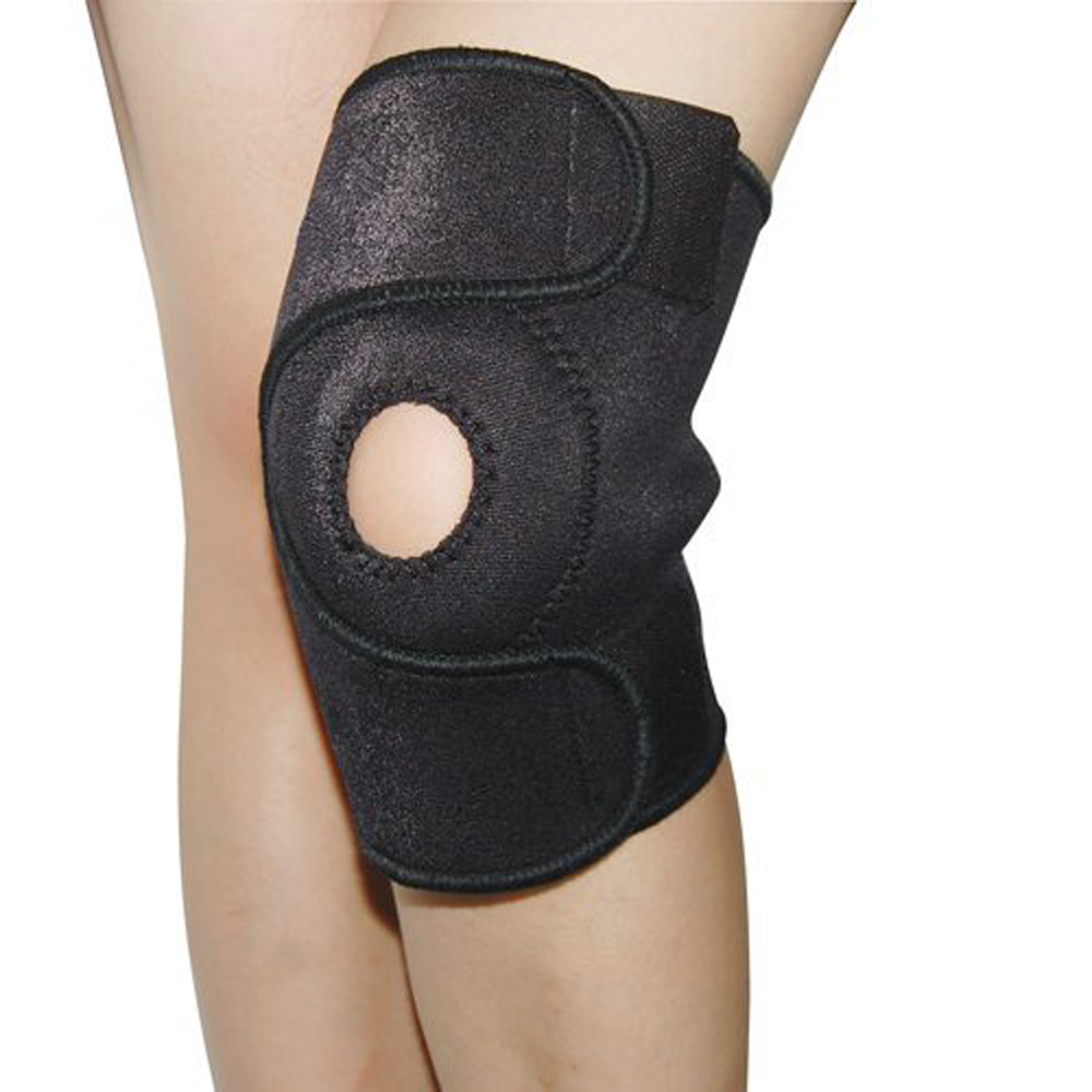 USA Stock! New Black Adjustable Strap Elastic Neoprene Patella Brace Knee Belt Support Fast(China (Mainland))