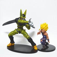 Dragon Ball 38 Cell VS Son Gohan figure model doll third form cell Super Saiyan 17/12cm