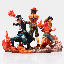 Buy One Piece Figure DXF Brotherhood 2 Luffy Ace Sabo Figure Action Toys Collection Model Toys Doll for $37.13 in AliExpress store