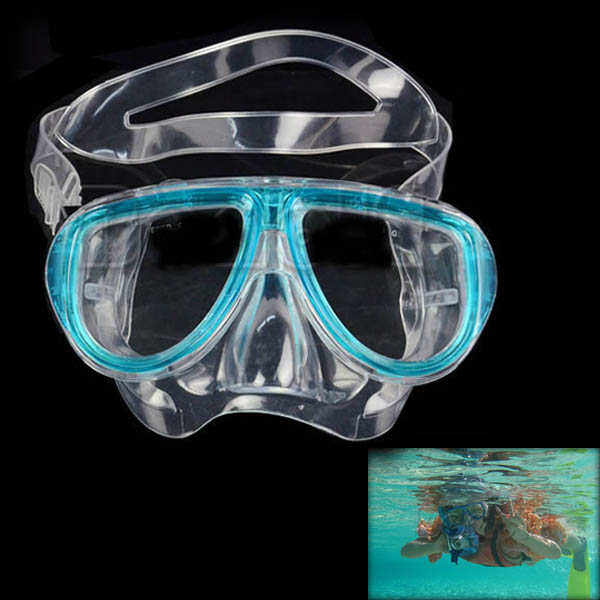 by dhl or ems 200pcs blue adult diving mask a breathing tube suits swimming diving supplies equipment suit transparent(China (Mainland))